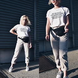 Giovanna Osterman - Green Box Shop Tee, Calvin Klein Corduroy Pants, Nike Air Force 1'S - 08.24.18