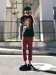 ★masaki★ - Obey Joe Strummer, H&M Plaid Pants, George Cox Fragile Original - Career opportunities