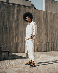 Marco Moura - Zara Denim Shirt, Zara Jeans, Zara Sandals - White Moment