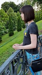 Anastasia M. - Pineapple T Shirt, Trousers With Ornament, Small Bag - I'm Pine