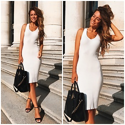 Anastasia Kotliar - Michael Kors Bag, Topshop Shoes, Love Republic Dress - WHITE X BLACK