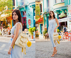 Viktoriya Sener - Chic Wish Dress, Grafea Backpack - TRUE COLORS