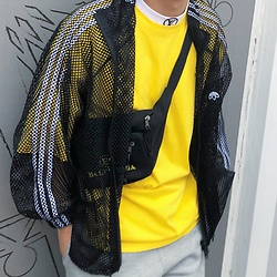 Galen Liu - Balenciaga Belt Bag, Balenciaga T Shirt - Yellow me