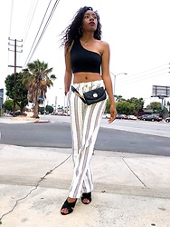 Shanell Holland - Forever 21 Pant, Aldo Belt Bag - Stripes n curls