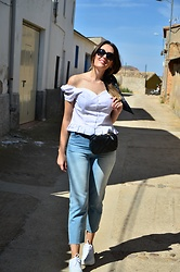 Elisabeth Green - Rosegal White Top, Zara Jeans, Mango Bag, Zara Sneakers - White Sneakers