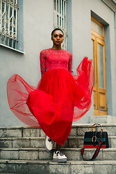 Melody Jacob -  - The red princess dress