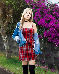 Caitlinaomi - Forever 21 Plaid Dress - Transitioning to Fall