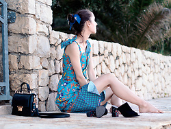 Iva K - Tamaris Heels, Cocopat Bag - Mickey dress