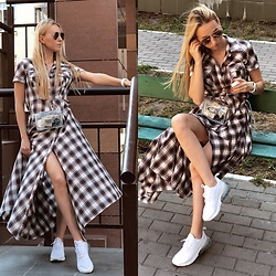 Svetlana Pershyna - Nike Sneakers, Black Star Dress, Zara Bag, Marc By Jacobs Glasses, Hublot Watch - Oh my dress💭