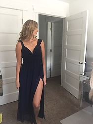 Cindy Batchelor - Gorgeous Black Hight Slit Gown - Gorgeous Black Hight Slit Gown