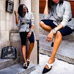 Monica Awe-Etuk -  -  HOW TO LOOK CHIC IN THE BIKE SHORT TREND