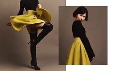 Jane Zubova - Gap Black Top, Tfnc Yellow Skirt - Sun skirt