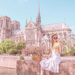 Sonja Vogel - Na Kd White Wrap Skirt, Na Kd Yellow High Neck Top - Balivibes in Paris