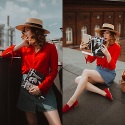 Anna Jaroszewska - Paris+Hendzel Hat, H&M Shirt, Noisy May Skirt, Rylko Shoes - ON THE ROOF