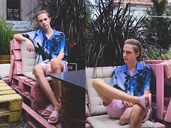 Piotr Czak - Zara Shirt, H&M Shorts, Slydes Slides - CALIFORNIAN BOY