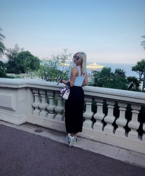 Call Me Elizaveta - Zara Pants, Karl Lagerfeld Bag, Gucci Sneakers, Giorgio Armani Sunglasses - Walking in Monte-Carlo