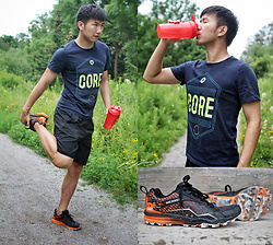 Haikang - Jack&Jones Tee, Merrell Running Shoes - Tough + Mudder