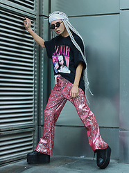 Milex X - Time Warp T Shirt, Nevada Pants, H&M Sunglasses - AALIYAH