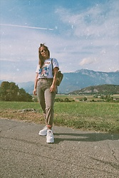 Doina M. - Buffalo London Flatform, Diesel High Waist - IG @then3rdmom