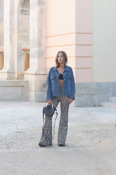 Claudia Villanueva - Gamiss Jacket, Boohoo Top, Pull & Bear Pants, Zaful Bag - Cheetah Print