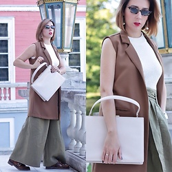Yulia Egorova - Picard Bag, Zara 👖, Mango Top - Autumn color
