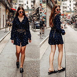 Jacky - Ray Ban Sunglasses, Vila Dress, Gant Shoes - Shirt Dress and Chain Belt