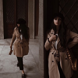 Paula - Cult Gaia Bag, Zara Hat - Trench weather