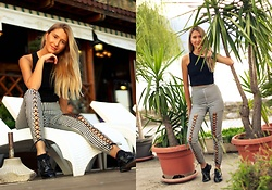 Sofija Surdilovic - Girlmerry Black And White Pants, Shein Black Top - Plants and trends!