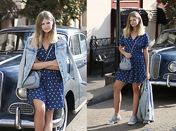 Margarita Lemeshko - & Other Stories Dress, Coccinelle Bag, H&M Denim Jacket, Converse Keds - Such a Perfect Day