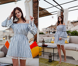 Viktoriya Sener - Shein Dress - STRIPED  DRESS