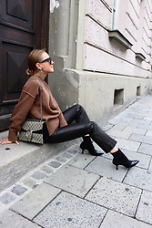 Anna Borisovna - H&M Sweater, H&M Pants, Mango Shoes, Gucci Bag - The Brown & Black Look