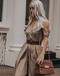 Amber Wilkerson - Dress, Necklace - ITS IN THE BAG TRENCH DRESS