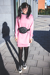 Panda . - Asos Dress, Monki Bag, Karl Lagerfeld Shoes - DEPRESSED BUT WELL DRESSED.