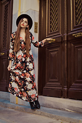Life Stalkers - Pop Air Maxi Floral Dress, Bozikis Leather Ankle Boots - Ready for October