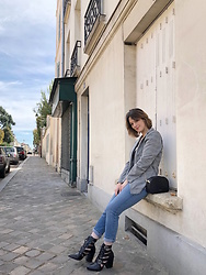 The laid-back girl Léa - New Look Blazer, Levi's® Jeans, Sézane Bag, Prettylittlething Boots - Working girl