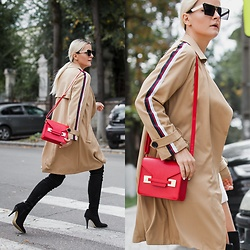 Cristina Tabun - Zaful Trench, Zaful Sunglasses - Follow me