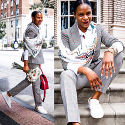 Monica Awe-Etuk -  -  HOW TO MAKE A PLAID BUSINESS SUIT STREET CHIC