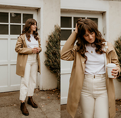 Tonya S. - Stutterheim Coat, Vintage Tee, & Other Stories High Waist Pants, Blundstone Heeled Boot - Blundstone Boots