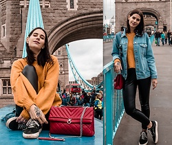 Nina Wirths - Missguided Jacket, Weekday Sweater, Vans Shoes, Topshop Leggins, Topshop Bag - Oh London
