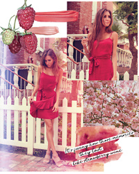 Jenny M - Zara Wine Coloured Linen Dress, Michael Kors Studded Sandals - LIKE STRAWBERRY WINE // thehungarianbrunette.com