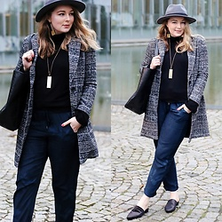 Ania K. [www.overdivity.com] - Coat, Hat, Turtleneck, Pants, Pants, Shoes, Blouse, Cardi - Hi Fall!