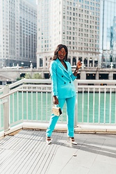 Jenn I - Asos Blue Tapered Pants, Asos Blue Blazer - Blue Power Suit