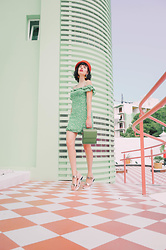Amy Roiland - Reformation Dress - Strolling in Ibiza. No big deal