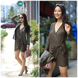 Kimberly Kong -  - Find of the Day: The Khaki Wrap Dress ($35)