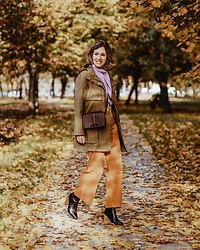Margarita Maslova - Rebecca Minkoff Bag, Zara Pants, Mango Jacket - Autumn leaves