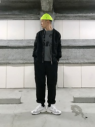 ★masaki★ - Obey Micro Beanie, Ch. 3/4 Sleeve Bomber, Off! Tee, Rothco 6pocket, Adidas Yung1 - YUNG1