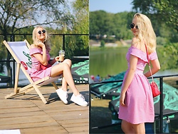 Paulina Dworakowska - Sinsay Dress, Victoria's Secret Bag, H&M Sneakers - Summerdays throwback