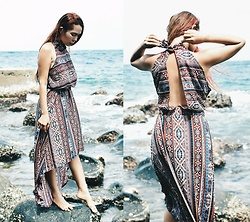 Julie Lozada - Nancy Online Shop Store Boho Dress - Down at the Rocky Shore