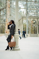 Mirjam - Michael Kors Brown Shopper, Mango Black Denim, Vila Leather Jacket, Mango Velvet Boots - Classics in Black