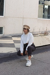 Claudia Villanueva - Mango Cap, Zaful Sweatshirt, Pull & Bear Pants, Buffalo London Sneakers - So many corduroy pieces